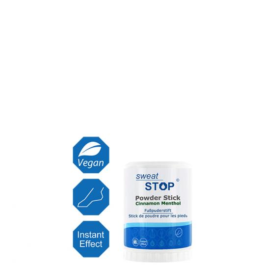 SweatStop® Powder Stick Cinnamon Menthol para pies